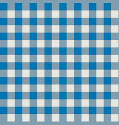 blue and gray plaid fabric pattern vector image