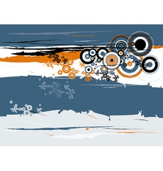 grunge background with many circles and shapes vector image