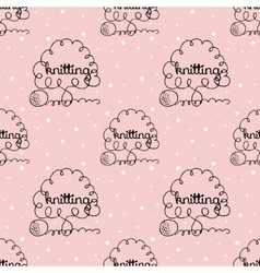 Kniting background vector