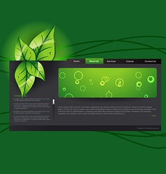 Eco template vector