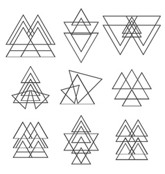 Set of geometric shapes trendy logotypes geometric vector
