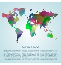 watercolor map vector image