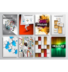 Set of flyer design infgraphics brochure designs vector