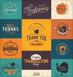 Thanksgiving Day Design Elements Badges and Labels vector image