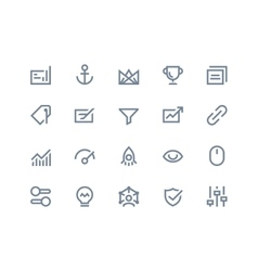 Search optimization icons line series vector