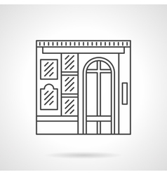 Photo studio facade flat line icon vector