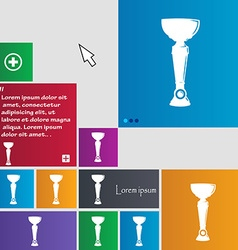 Trophy icon sign buttons modern interface website vector