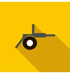 Cannon field artillery icon flat style vector