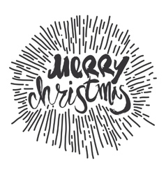 Merry christmas calligraphy handwritten modern vector