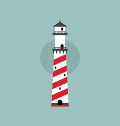 Beach lighthouse flat vector
