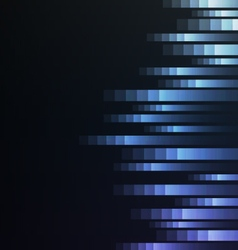 blue abstract pixel speed from side background vector image