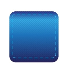 Blue line button vector image