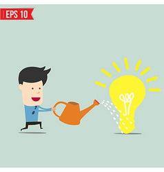 Businessman watering idea - - eps10 vector