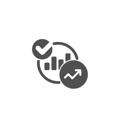charts statistics simple icon report graph sign vector image