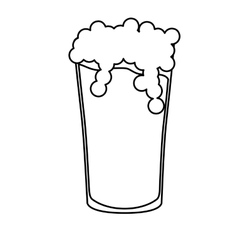 contour glass beer icon image design vector image vector image