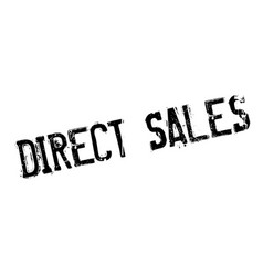 Direct sales rubber stamp vector