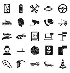Employ icons set simple style vector