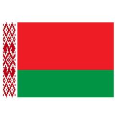 Flag of Belarus vector image vector image