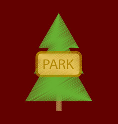 Flat icon in shading style city park vector