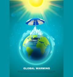 Global warming poster vector
