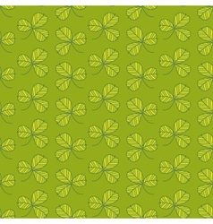 Green clover pattern vector image vector image