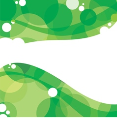 Green graphic background with white space vector