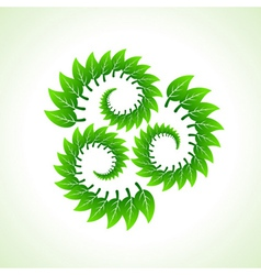 Green leaves make recycle icon vector image vector image