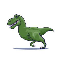 hand drawn cartoon tyrannosaur running vector image