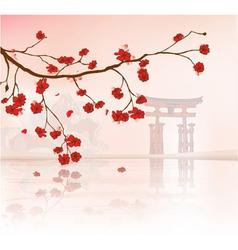japanese floral background vector image