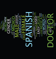 Learn an easy spanish lesson text background word vector