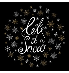Let it snow christmas and new year typographic vector