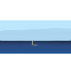 Loch Ness vector image