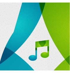 Modern paper design music concept vector image