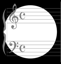 music circle vector image vector image