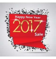 New year sale 2017 creative sale tag vector