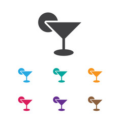 Of game symbol on cocktail vector