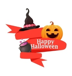 Red Ribbon Halloween vector image vector image