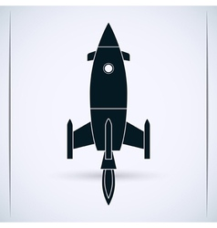 Rocket launch vector image vector image