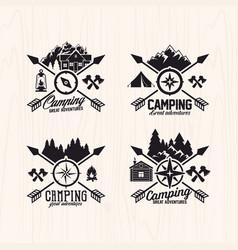 set of summer camp logo vector image vector image