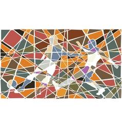 Soccer player mosaic vector