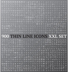 Thin line icons exclusive XXL collection vector image