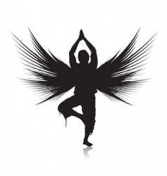 yoga composition vector image
