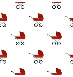 Pram baby carriage pattern flat vector