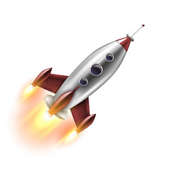Isolated realistic rocket vector