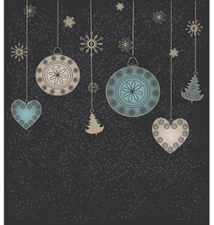 Christmas background with toys vector image