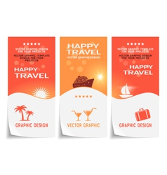 Travel banner poster sticker flyer ticket vector