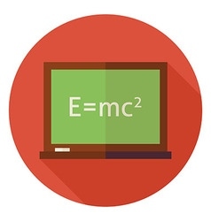 Flat science and education chalkboard circle icon vector