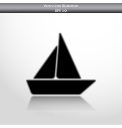 Yacht web flat icon vector