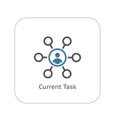 Current tasks icon business concept flat design vector