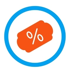 Discount label rounded icon vector